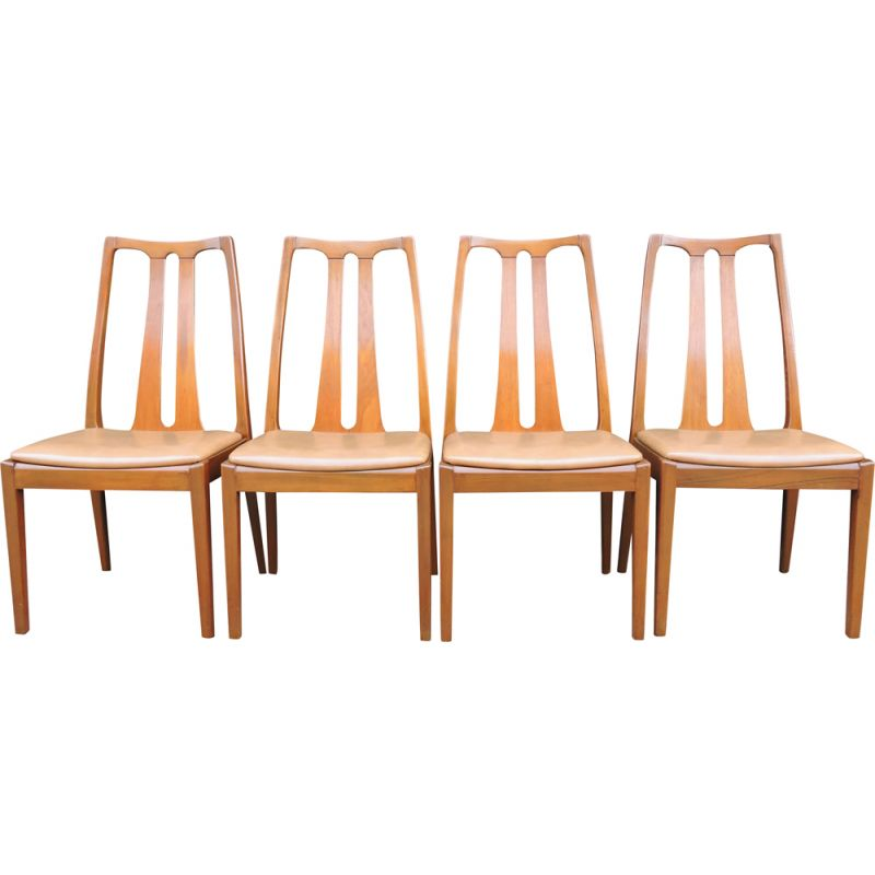 Set of 4 Vintage Teak Dining Chairs from Nathan & G-Plan 1960s