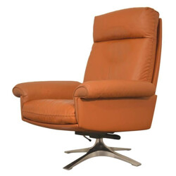 "Vintage De Sede ""DS 31"" swivel lounge armchair - 1970s"