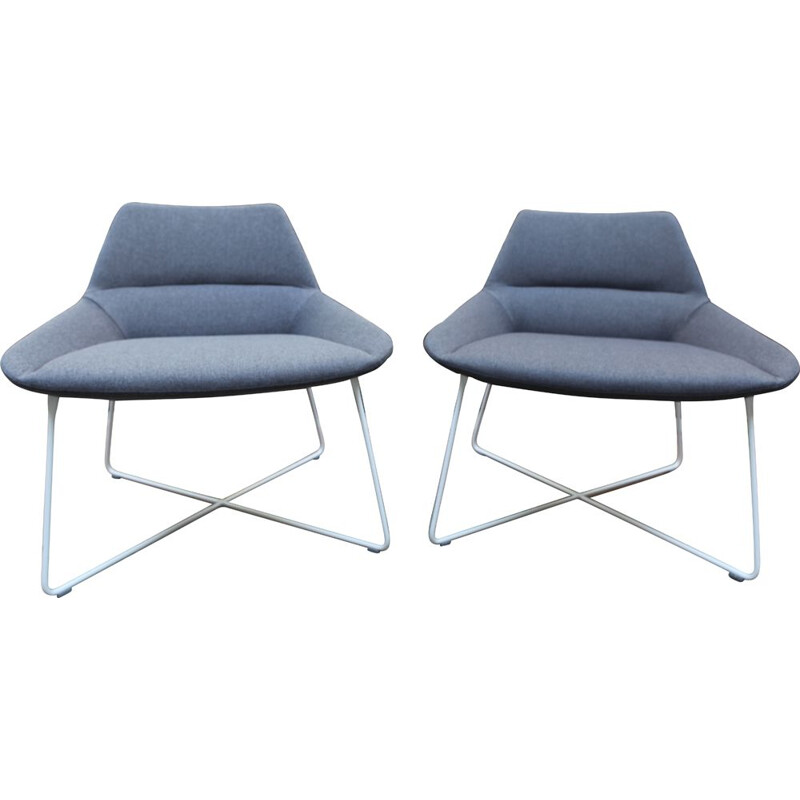 Pair of vintage grey seats for Air France - Christophe Pillet