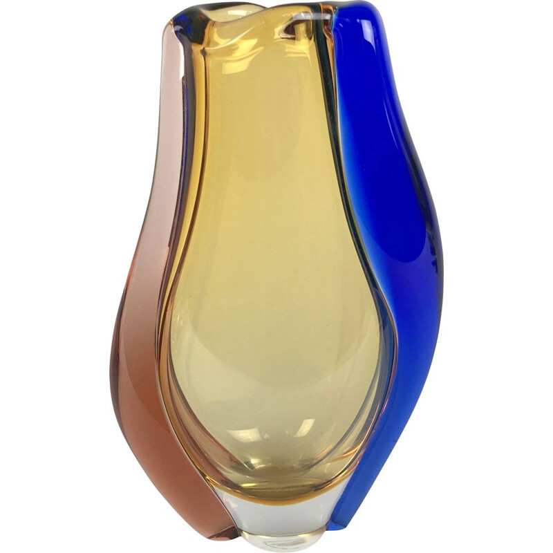 Art Glass Vase by Hana Machovska for Mstisov Glassworks, Czechoslovakia 1960s