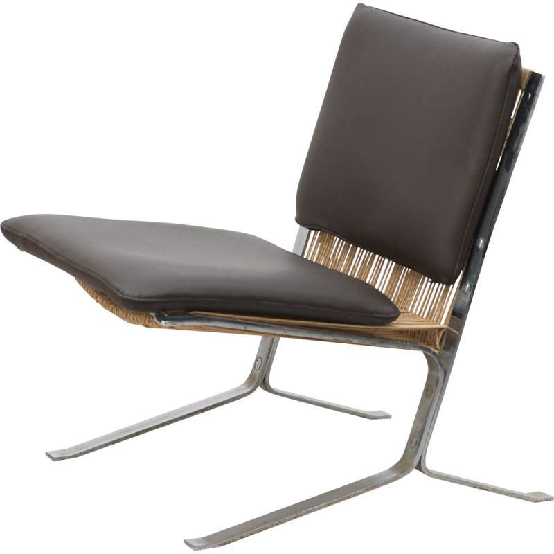 Vintage black Joker armchair by Olivier Mourgue for Airborne