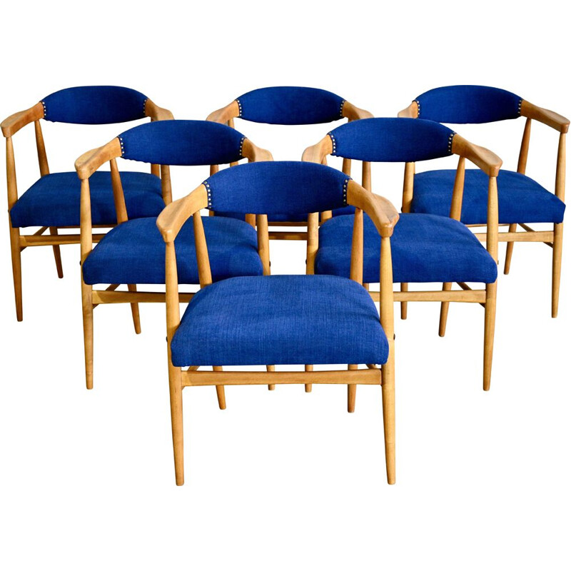 Set of 6 vintage Scandinavian Dining Chairs 1960s