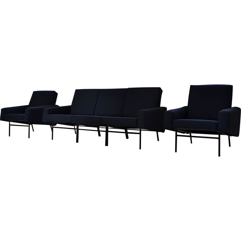 Vintage seating set by Pierre Guariche, mod G10 for Airborne 1950