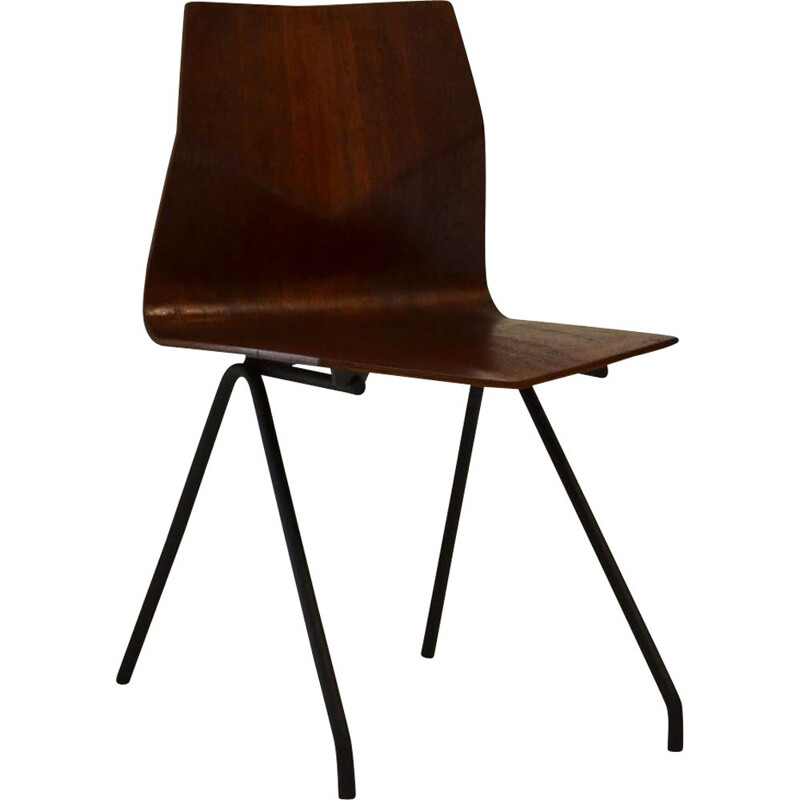 Vintage Diamond Chair René-Jean Caillette by Steiner 1950s