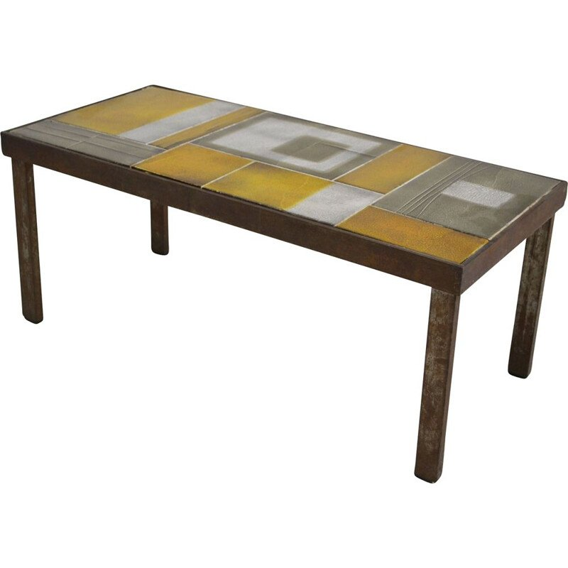 Roger Capron vintage coffee table