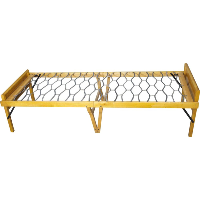Danish vintage daybed in ash foldable fold-out Sweden guest bed 1960s
