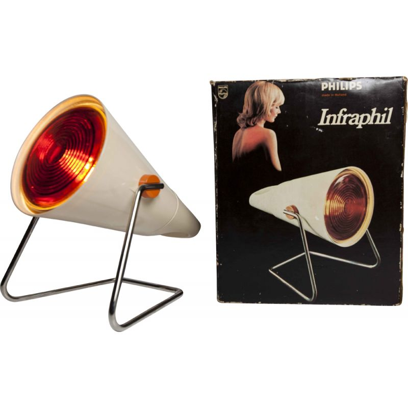 Vintage Philips Infraphil lamp from 1980s