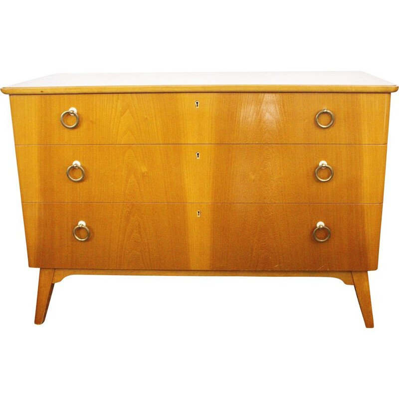 Vintage chest of drawers Sweden cherry wood 1960s