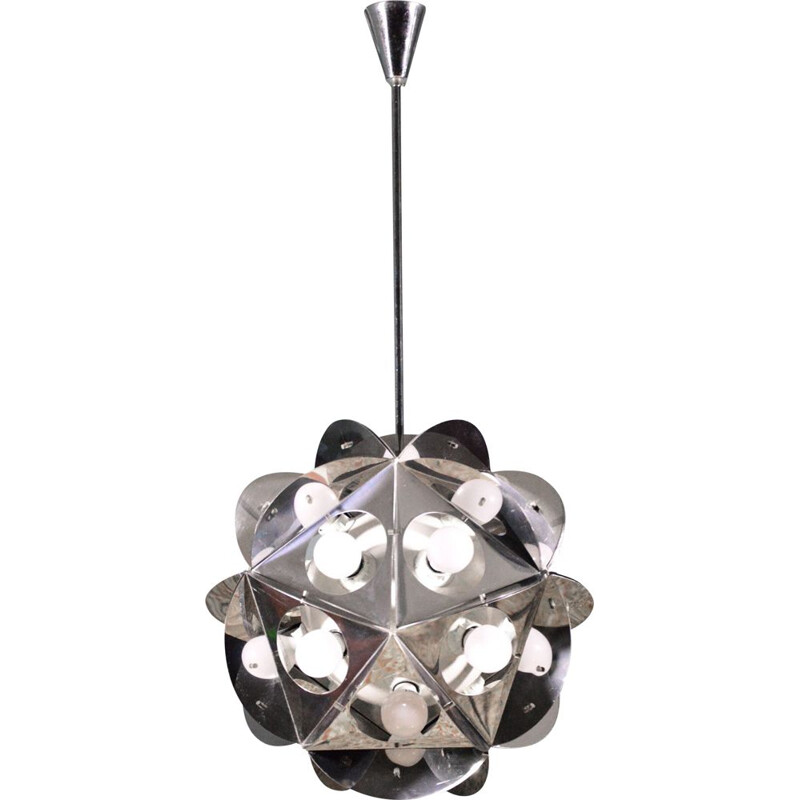 Vintage Aconà Biconbì Chandelier By Bruno Munari For Danese 1960s