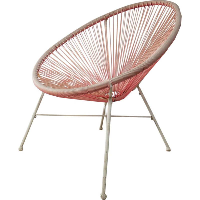 Vintage rope bucket chair 1950s