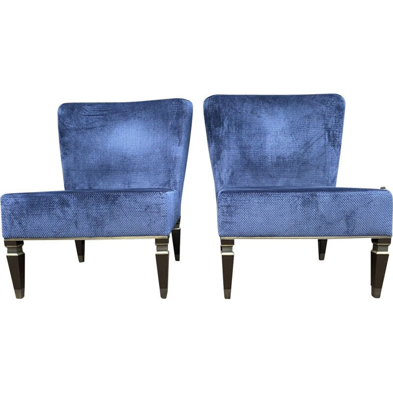 Pair of vintage Heritage heated armchairs