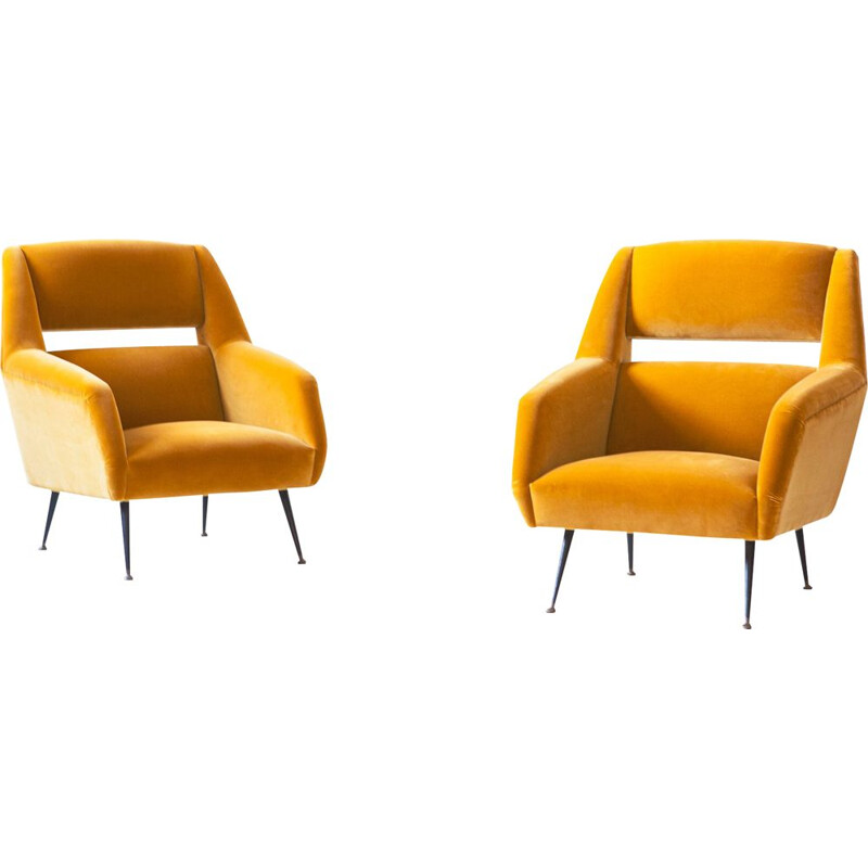 Pair of vintage armchairs by Gigi Radice 1950s