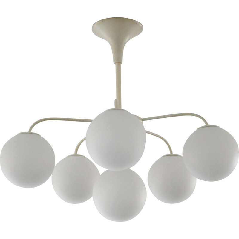 Vintage Temde lamp white balls from Max Bill