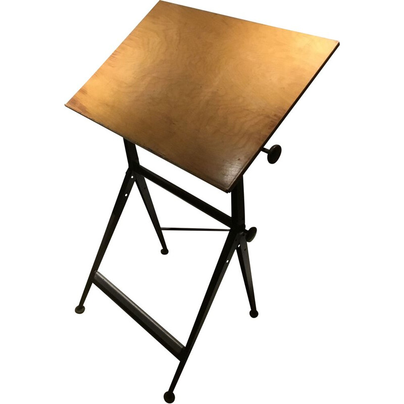Vintage Drawing working table by Friso Kramer for Ahrend the circle