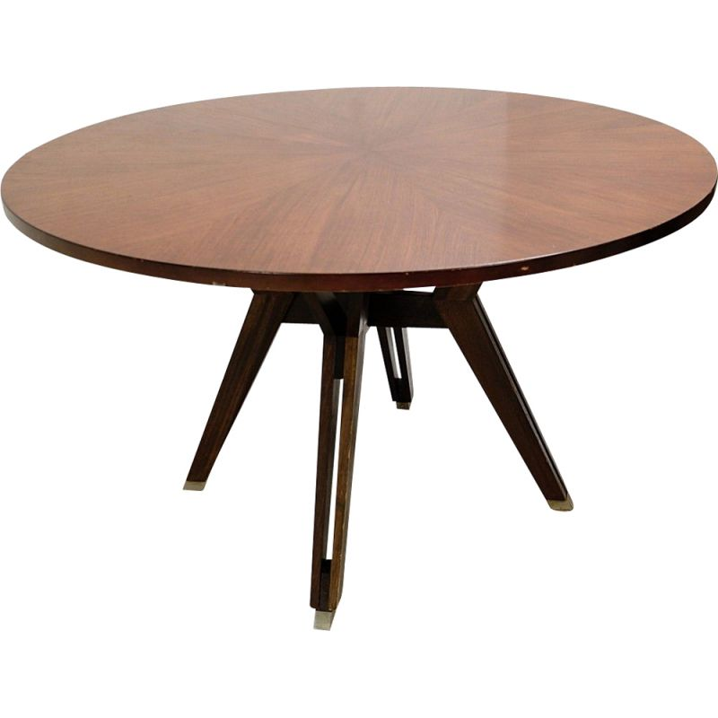Vintage Round Table By Ico Parisi For M.I.M Roma Italy 1958s