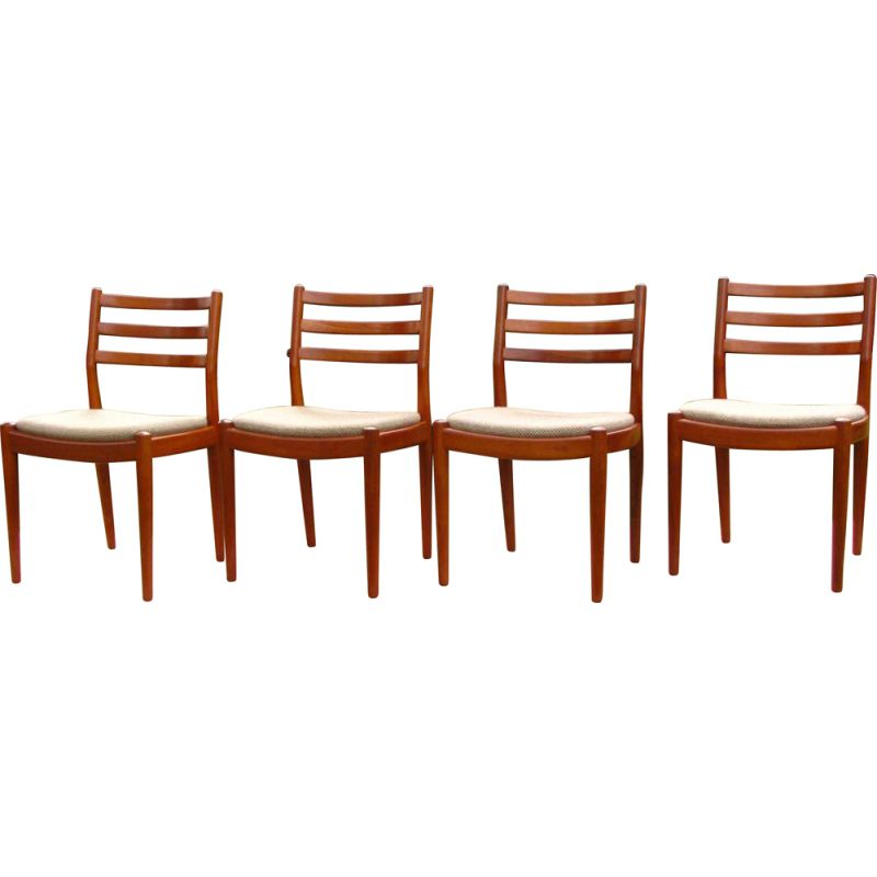 Set of 4 vintage teak chairs Denmark