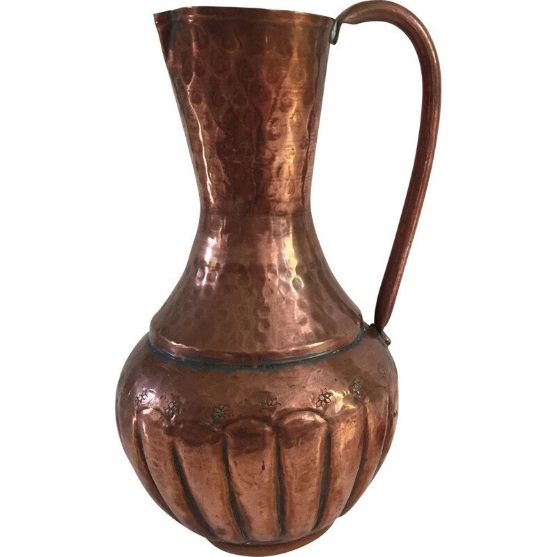 Vintage Large Copper Pitcher