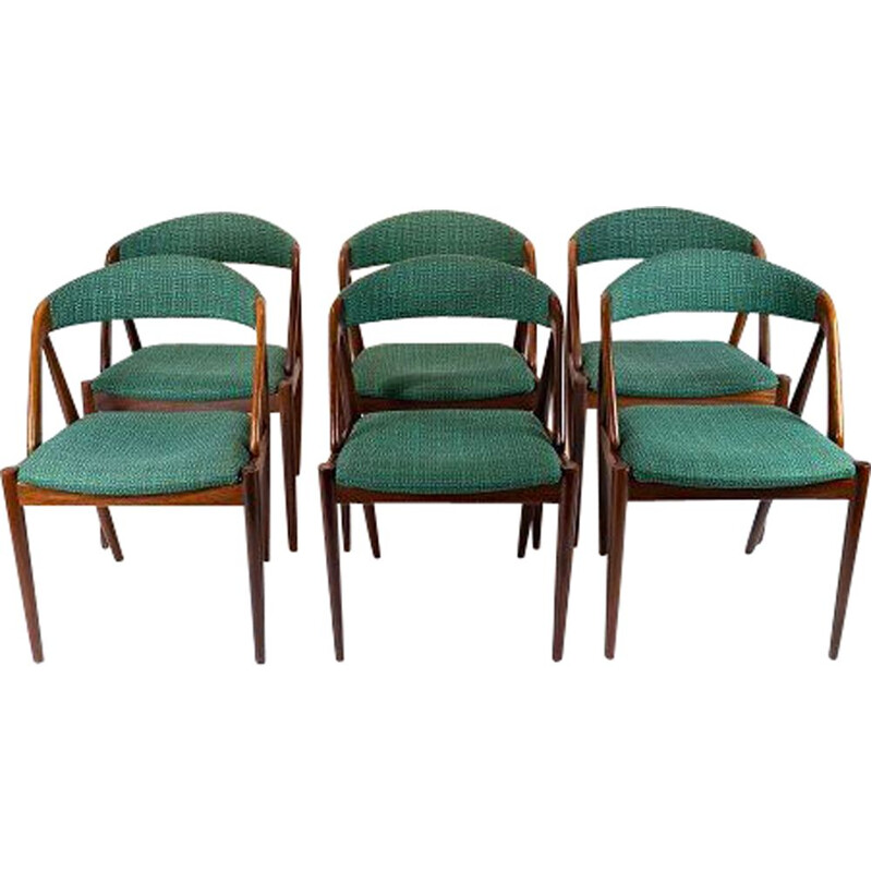 Set of 6 dining room chairs, model 31, Kai Kristiansen for Schou Andersen 1960s.