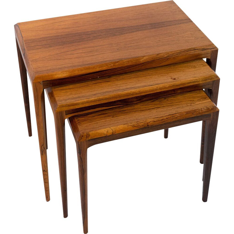 Vintage Nesting tables in rosewood  by Johannes Andersen and  by Silkeborg Furniture 1960s