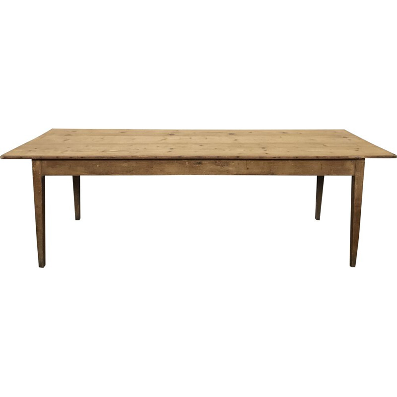 Vintage bistro style farmhouse table in fir wood