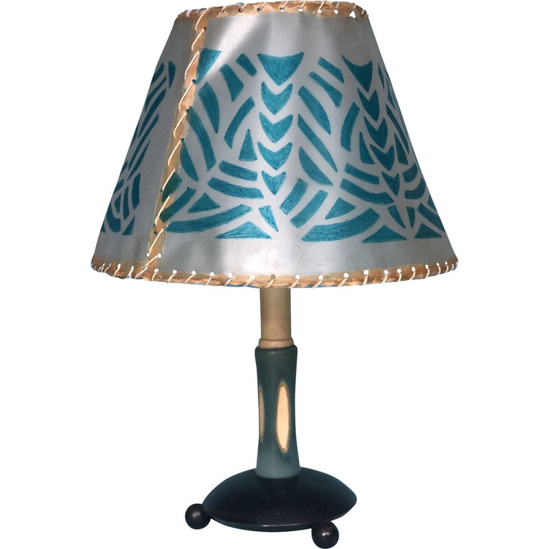 Vintage celluloid table lamp 1950's