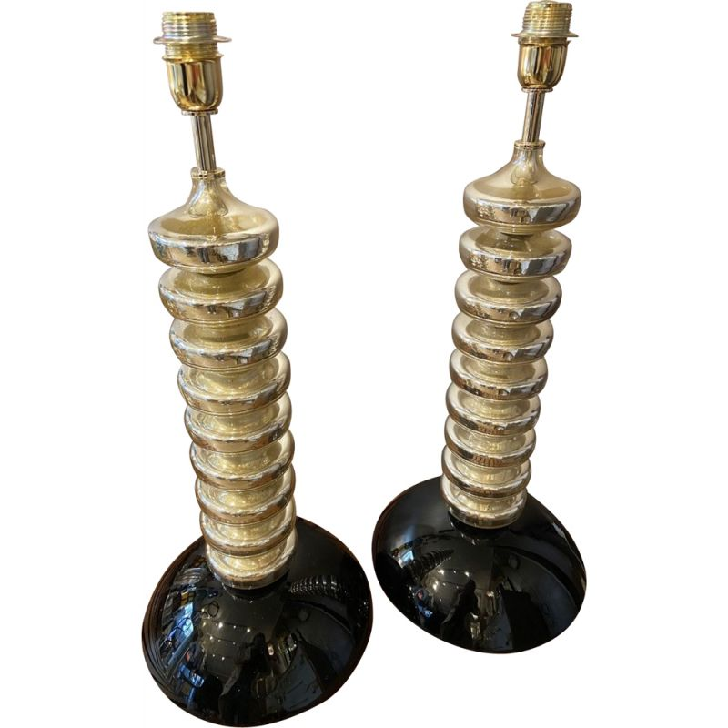 Pair of vintage Toso lamp 1980