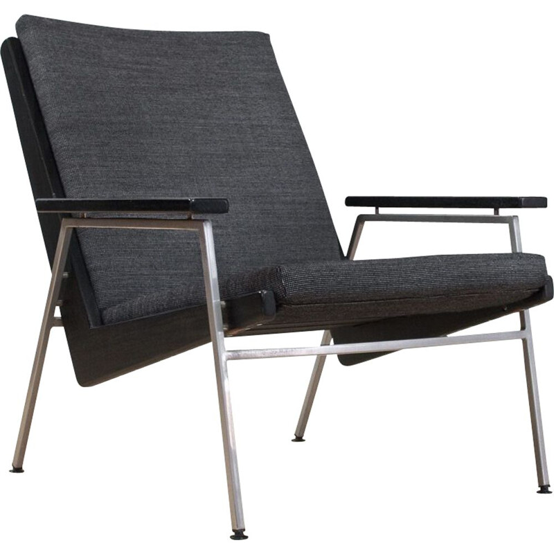 Vintage Lotus lounge chair in black Rob Parry  Dutch 1950s
