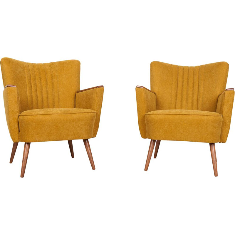 Pair of cocktail armchairs vintage 1960