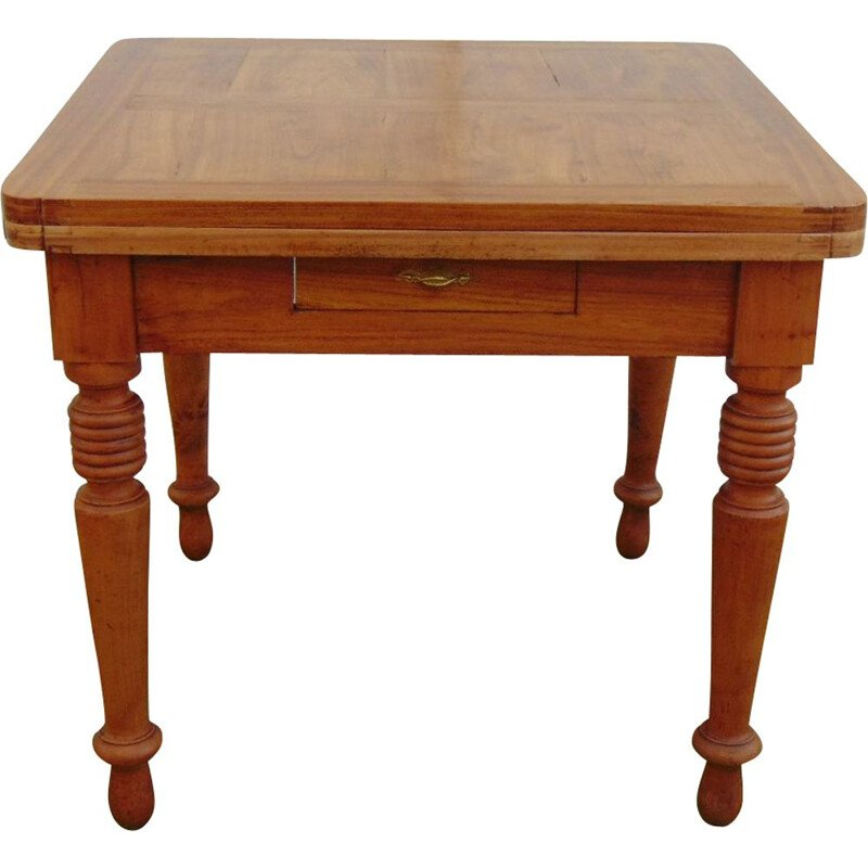 Vintage extendeble table in solid wood 1930