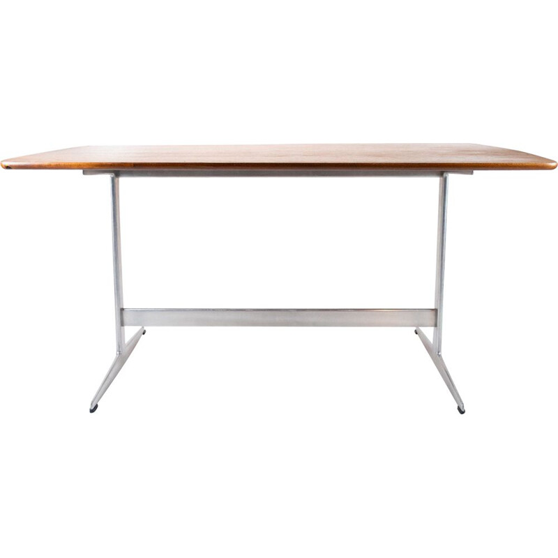 Vintage teak and metal Shaker dining table by Arne Jacobsen 1960