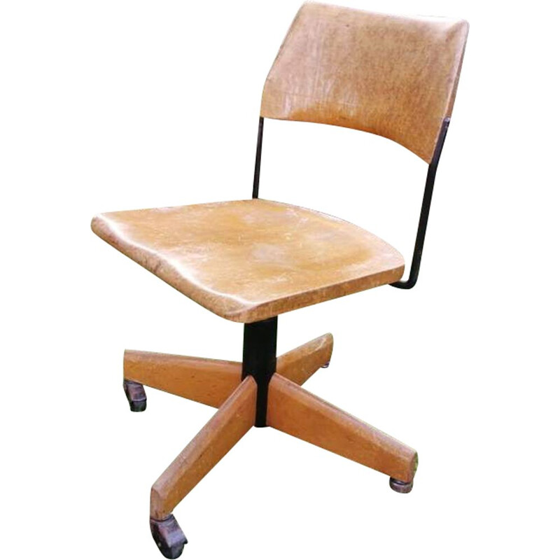 Vintage office chair adjustable in height