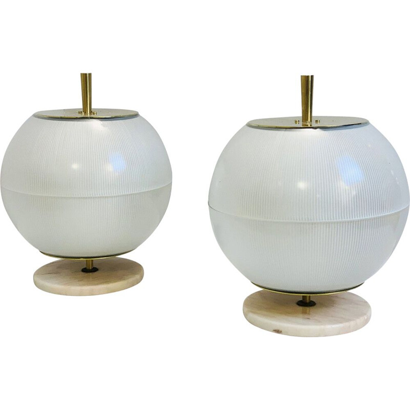 Pair of 'Galassia' Vintage Table Lamps Italy 1964