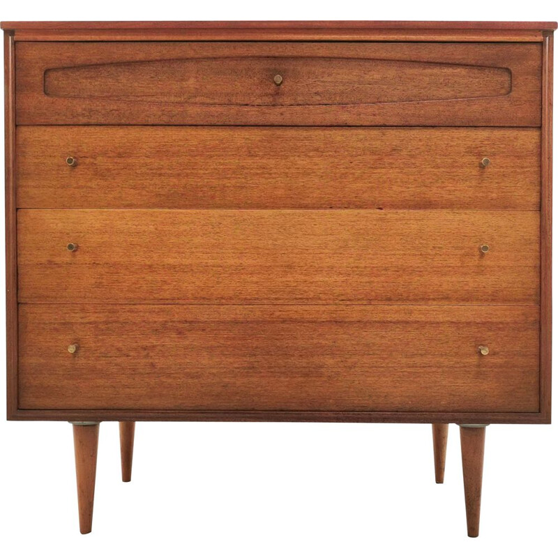 Mid Century Teak Chest of Drawers British 1960s