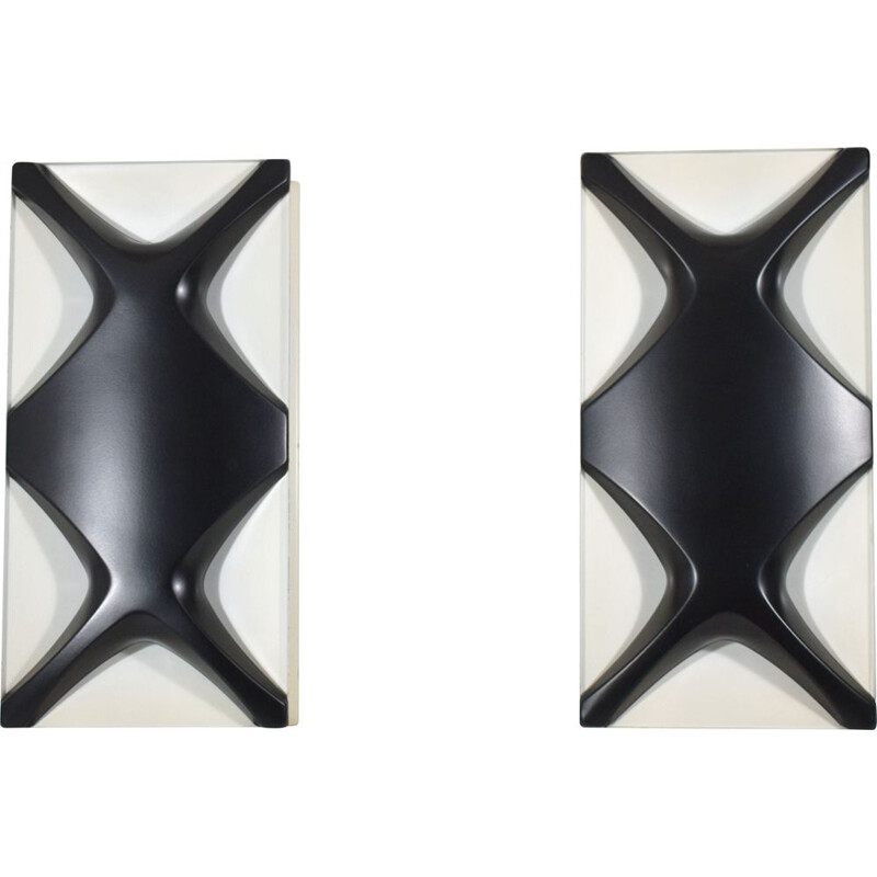 Pair of vintage sconces by Dieter Witte and Rolf Kruger 1968
