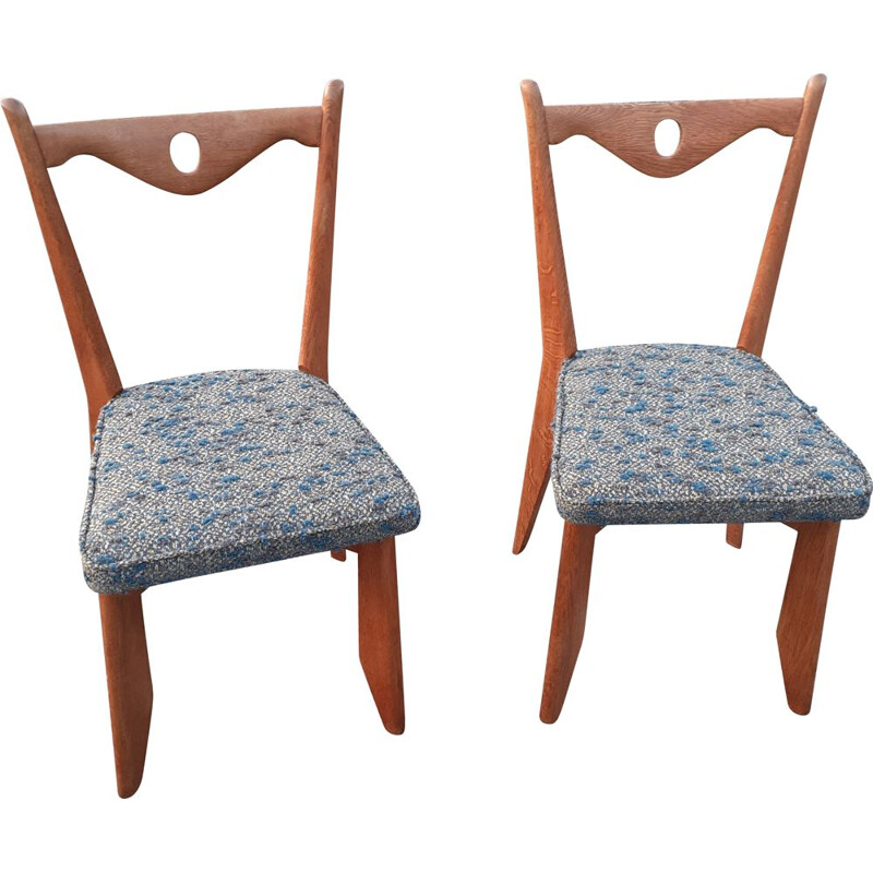Pair of vintage chairs Guillerme & Chambron