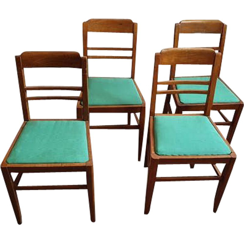 Set of 4 vintage bistro chairs 1940