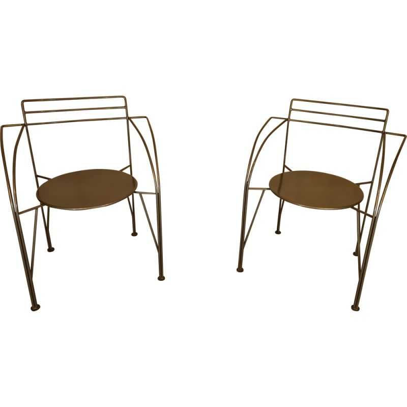 Pair of vintage chair by Pascal Mourgue 1985