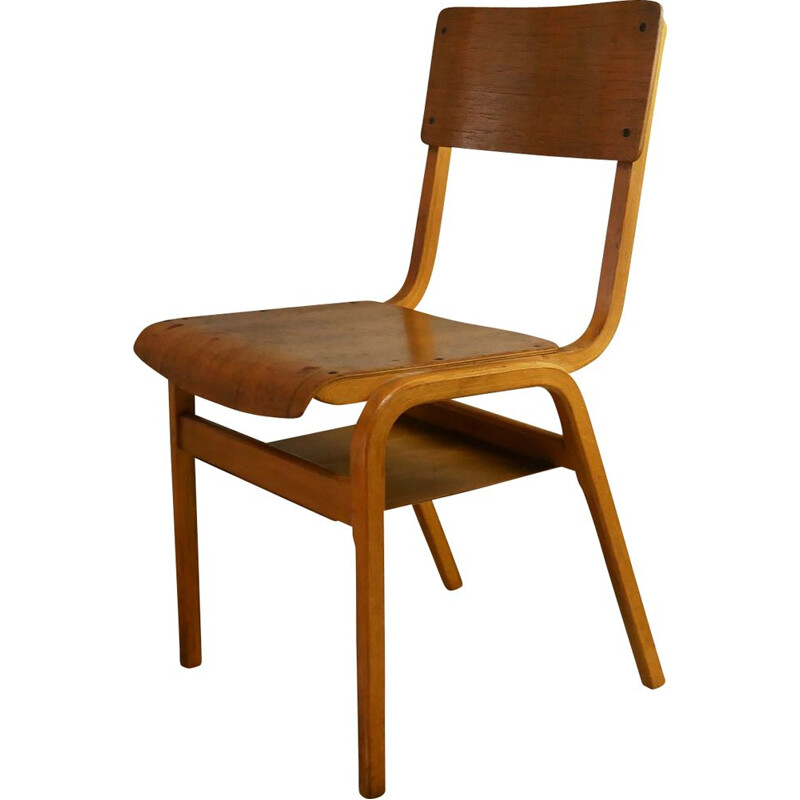 Mid century plywood stacking chair 1960s