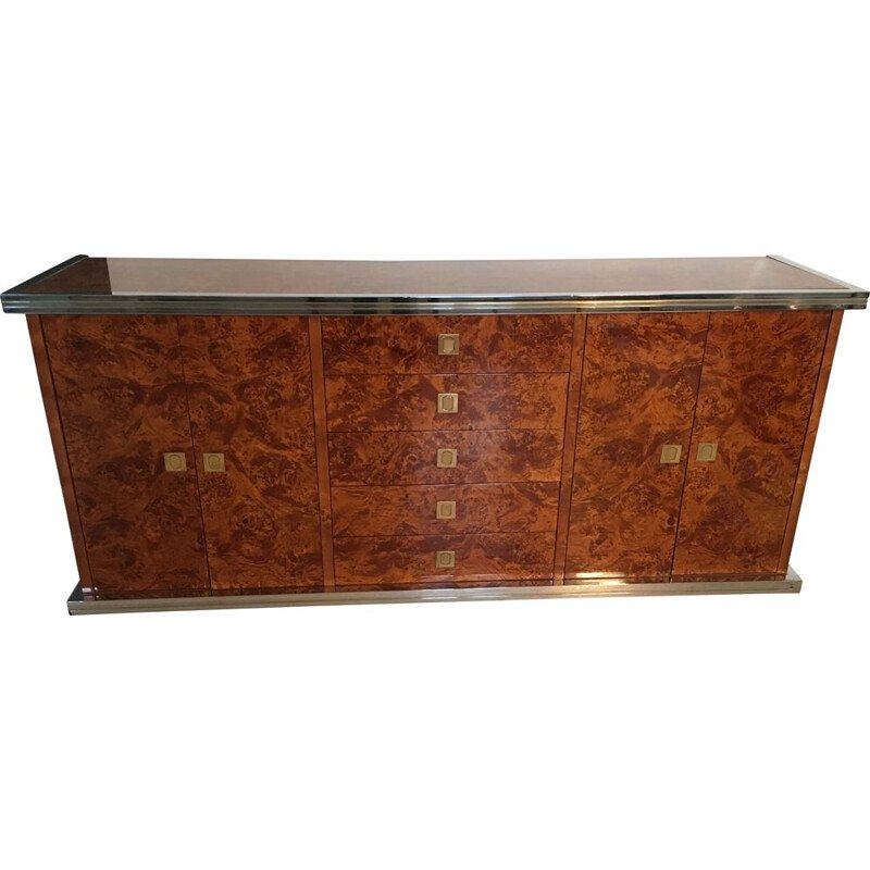 Vintage sideboard with string of drawers Willy Rizzo 1970