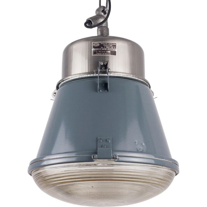Vintage Polish Industrial Pendant Lamp from Mesko 1970s
