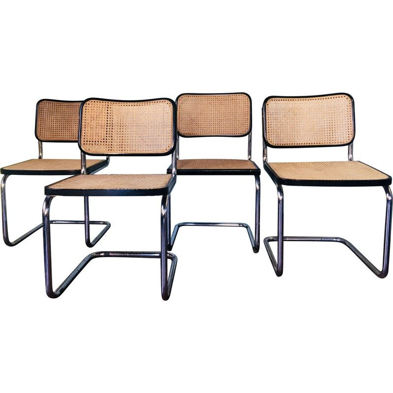 Set of 4 vintage Marcel Breuer B32 chairs 1970s