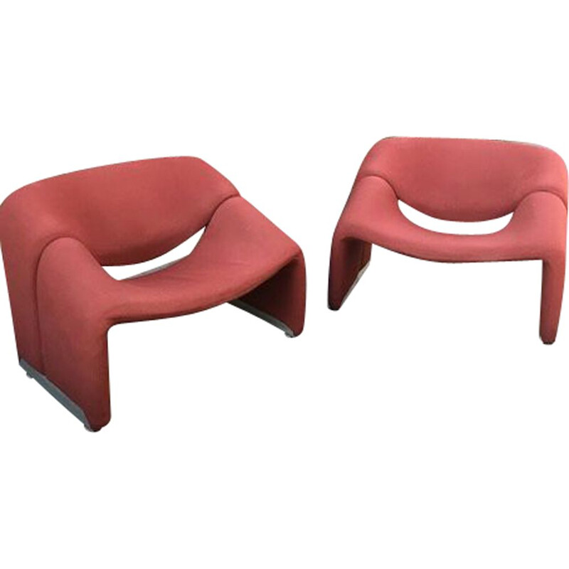 Pair of vintage armchairs by Pierre Paulin 1980s