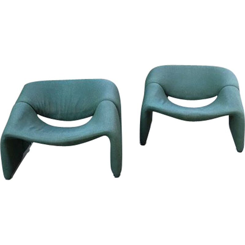 Pair of vintage armchairs by Pierre Paulin 1970s