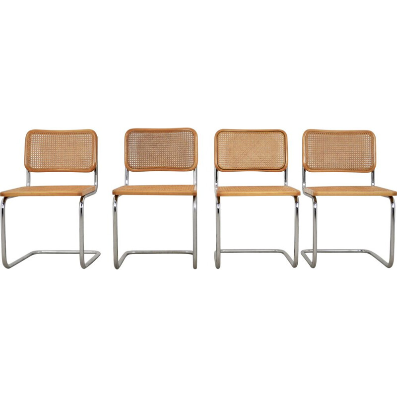Set of 4 vintage B32 chairs by Marcel Breuer