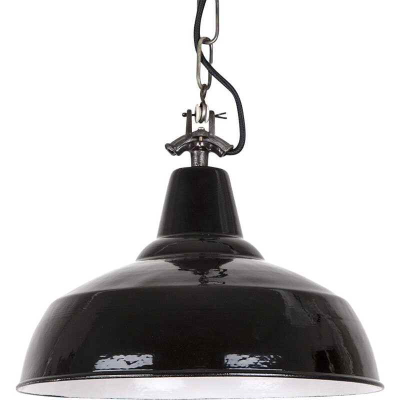 Vintage industrial pendant lamp Bauhaus, Germany 1930