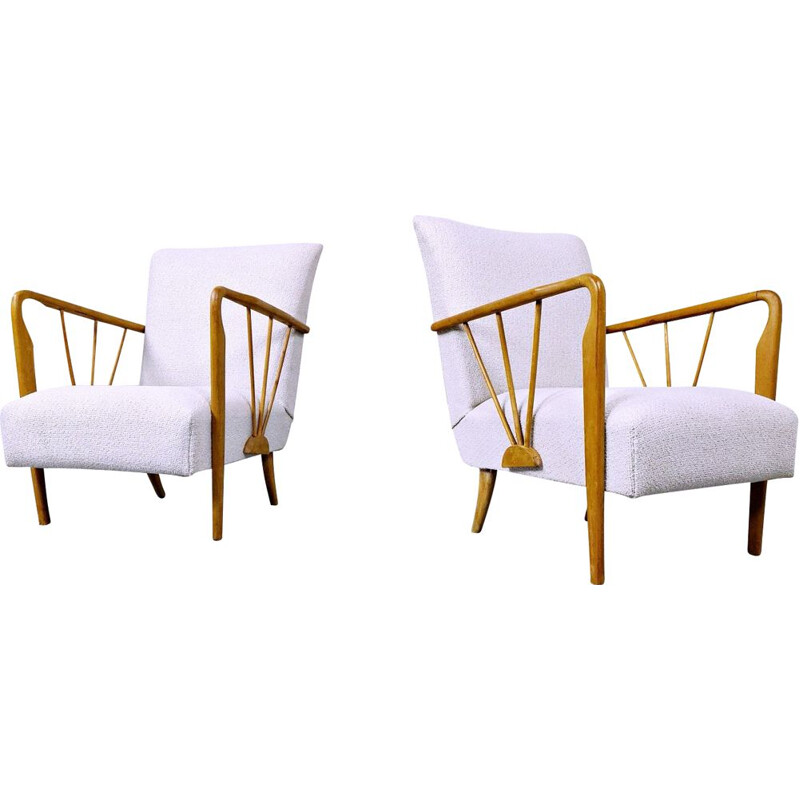 Pair of vintage Paolo Buffa armchairs