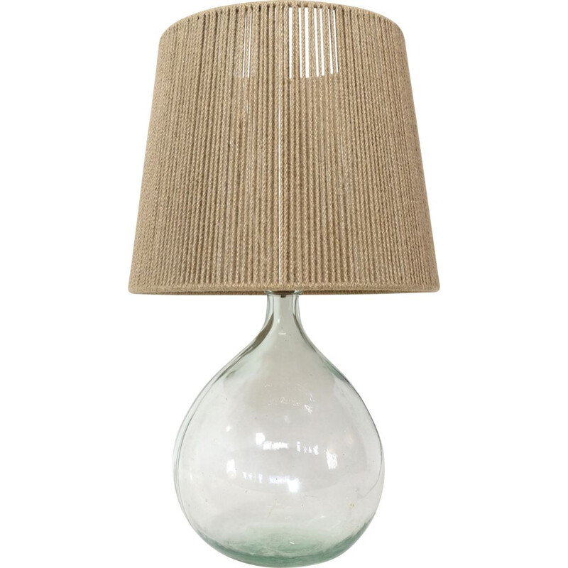 Vintage string shade table lamp 1970s