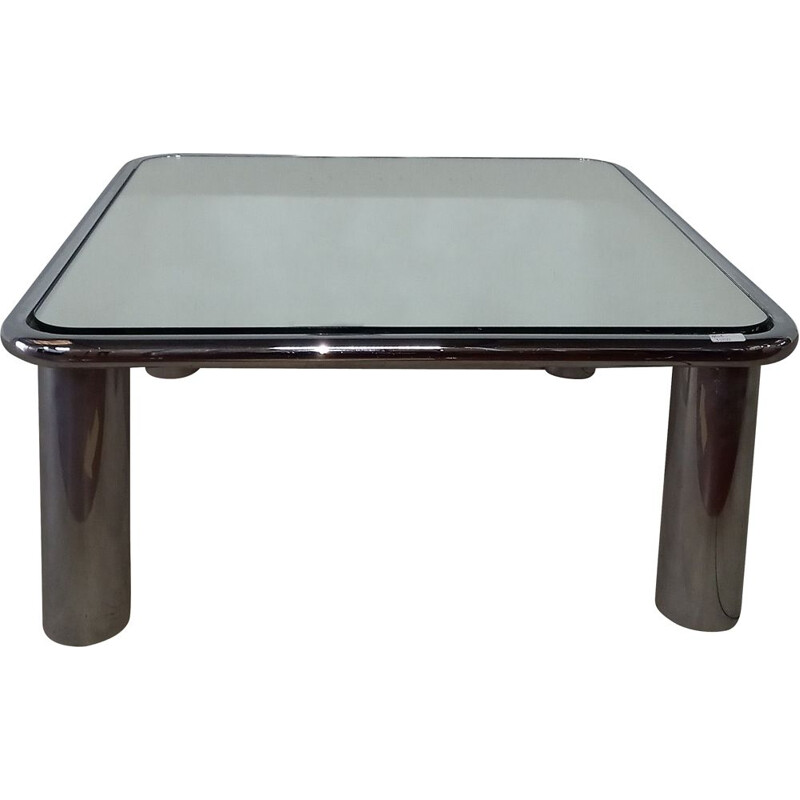Vintage square coffee table Italy 1970s
