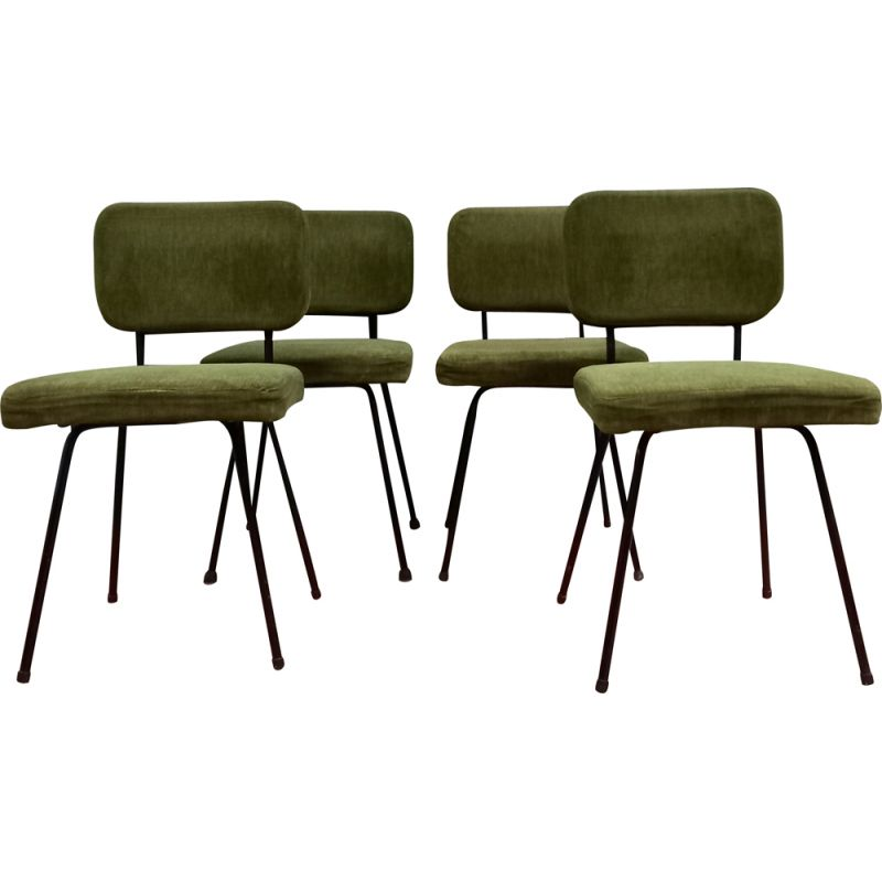 Set of 4 vintage Airborne chairs 1950s