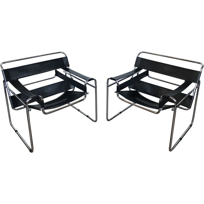 Pair of Wassily  vintage armchairs by Marcel Breuer 1920s